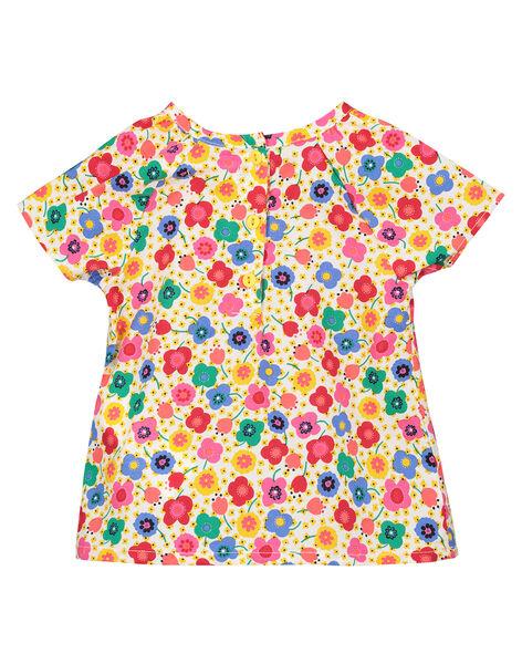 Baby girls' printed blouse FICOCHEM / 19SG0981CHE000