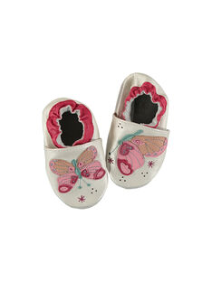Baby girl's leather slippers. FNFPAP / 19SK3736D3S301