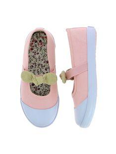 Rose Salome canvas shoes CFBABNOEUD / 18SK35O1D17030