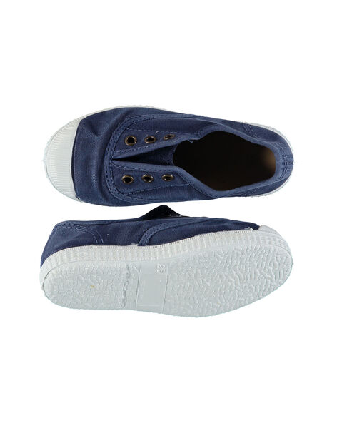 Boys' plain canvas trainers FGTENBLUE / 19SK36B2D16070