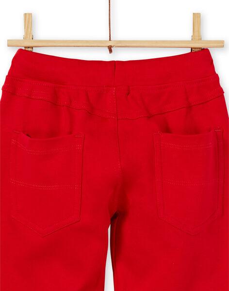 Red cotton pants boy child LOJOPAN3 / 21S90232PAN050