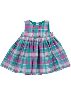 Baby girls' checked dress CIDOUROB3 / 18SG09J3ROB099