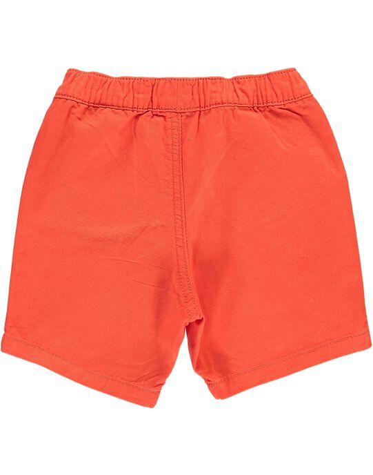 Baby boys' orange shorts CUJOBER10 / 18SG10S4BERE400