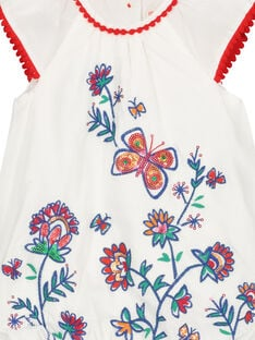 Baby girls' embroidered bouffant dress FITOROB2 / 19SG09L2ROB000