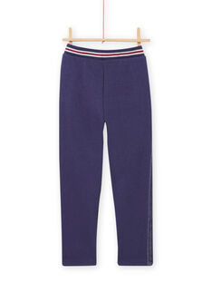 Child girl blue lined pants MAPLAPANT2 / 21W901O2PANC202