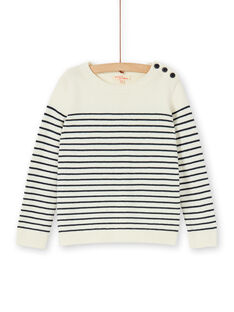 Off white striped sweater for boys LOJOPUL1 / 21S90231PUL001