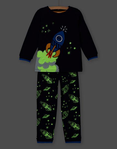 Phosphorescet pyjamas for boys in rocket-scratch fleece pants LEGOPYJFUZ / 21SH1213PYJ705