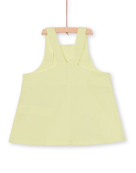 Baby girl yellow dungarees dress LIVERROB2 / 21SG09Q3ROB108