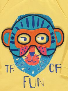Boys' mask sweatshirt COFRISWE / 18S902H1SWMB102