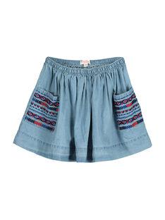Girls' denim skirt FATOJUP2 / 19S901L2JUP721