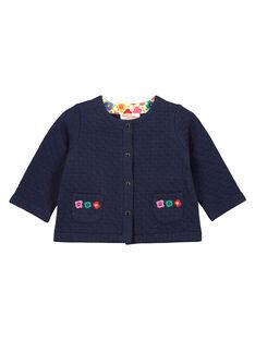 Baby girls' glitter padded cardigan FICOCAR1 / 19SG0981CARC205
