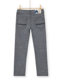 Midnight blue and grey mottled knit pants for children and boys LOBLEPAN2 / 21S902J2PAN705