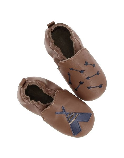 Baby boys' leather slippers DNGINDI / 18WK47W6D3S804