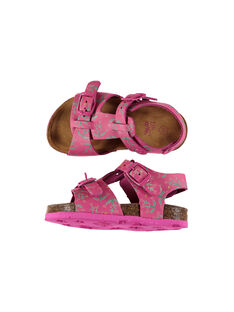 Baby girls' smart leather sandals FBFNUPRINT / 19SK37D4D0E304