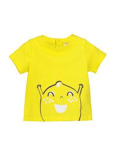 Sunny yellow T-shirt FUJOTI1 / 19SG1031TMC102