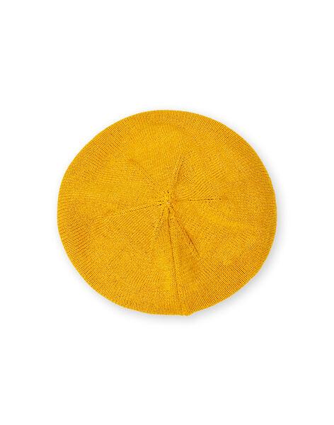Yellow beret in fine mesh baby girl LYINAUBON / 21SI09L1BON106