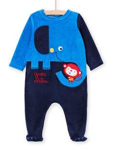 Sleep suit blue baby boy sleep suit LEGAGRELEF / 21SH1454GRE713