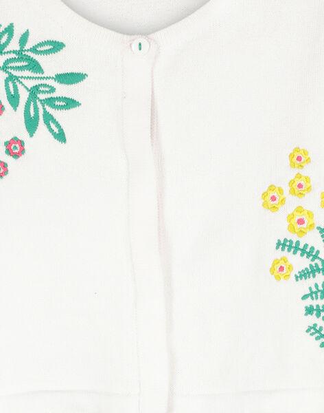 Girls' cotton bolero cardigan FACACAR1 / 19S901D1CAR000