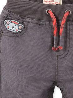 Dark gray baby boy pants LUPOEPAN1 / 21SG10Y2PANJ916