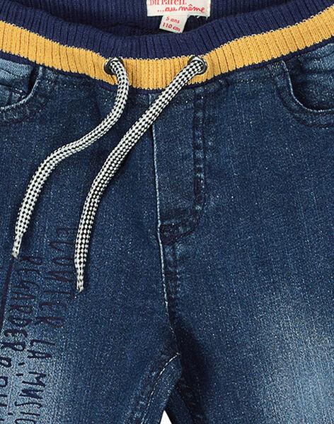 Boys' elasticated waist jeans FOLIJEAN / 19S90221JEA704