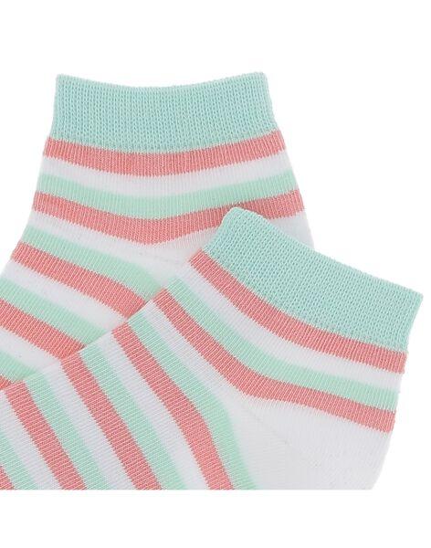 Boys' striped ankle socks CYOJOCHO9A / 18SI02S5SOQ000
