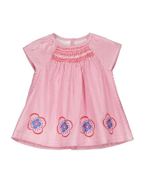 Baby girls' striped dress FICOROB1 / 19SG0981ROB030