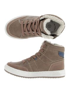 Boys' fur lined trainers DGBASBOY / 18WK36T5D3F802