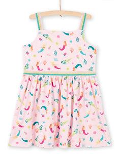 Mermaid and fantasy print jersey dress with thin straps LABONROB3 / 21S901W3ROBD303