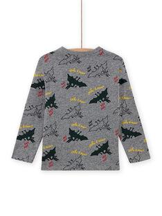 Boy's Grey Dinosaur Print T-Shirt MOFUNTEE1 / 21W902M4TML943
