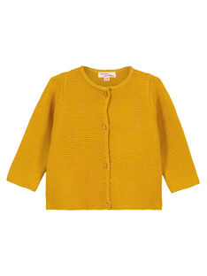 Yellow Cardigan GIJOCAR3 / 19WG0941CARB107