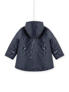 3-in-1 navy blue glittery raincoat MAMIXIMPER / 21W90152IMP070
