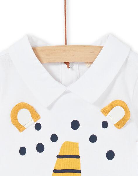 White cotton baby boy bodysuit LUBALBOD / 21SG10O1BOD000