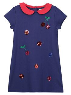 Girls' Peter Pan collar cotton dress FACOROB3 / 19S90183ROB703