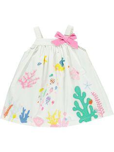 Baby girls' strappy dress CIMAROB1 / 18SG09U2ROB000