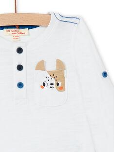 White T-shirt baby boy LUJOTUN2 / 21SG1035TML000