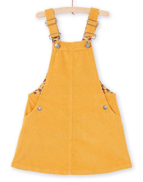 Girl's mustard overalls dress MAMIXROB4 / 21W901J4ROBB106