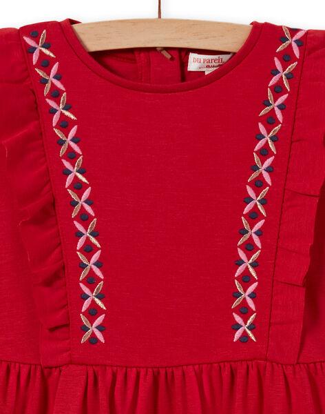Girl's milano dress with long sleeves and ruffles MACOMROB3 / 21W901L2ROB408