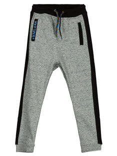 Boys' grey marl jogging bottoms GOBLEPAN2 / 19W90292PANJ922