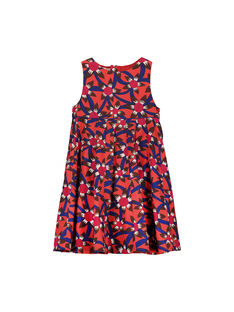 Girls' graphic print dress FABAROB2 / 19S90162ROB099