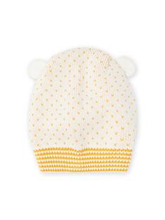 Baby girl ecru mesh hood with ear details MYICOBON / 21WI0965BON001