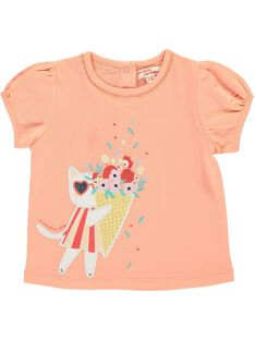 Baby girls' short-sleeved T-shirt CIBUTI2 / 18SG09K1TMC401