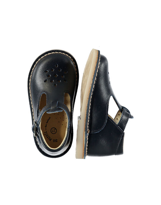 Baby boys' smart leather T-bar shoes. FBGSALBASI2 / 19SK3884D13070