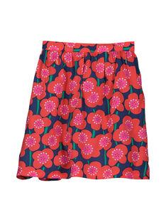 Girls' flowery skirt FACOJUP2 / 19S90182JUP099