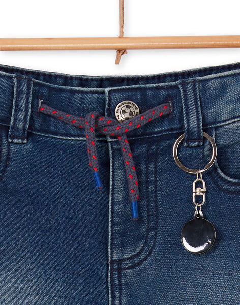 Blue jeans Bermuda shorts for children and boys LOHABER1 / 21S902X2BERP274