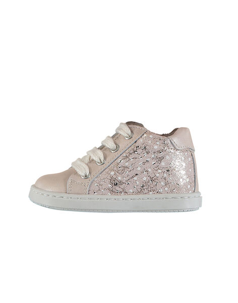 Baby girls' leather trainers FBFBASLIS / 19SK3742D3F030
