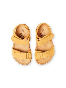 Baby boy yellow sandals LBGNUJAUNE / 21KK3852D0E010