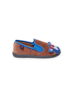 Boy's taupe bear slippers MOPANTOURS / 21XK3637D0B803