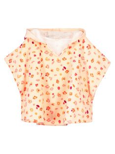 Baby girls' floral hooded towel FYICAP / 19SI09E1CDB301