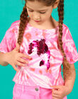 Pink and ecru short T-shirt with reversible sequins LABONTI4 / 21S901W1TMC000
