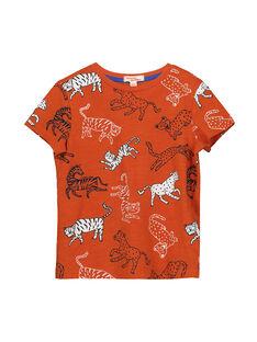 Boys' fancy T-shirt FOBATI4 / 19S90264TMC409